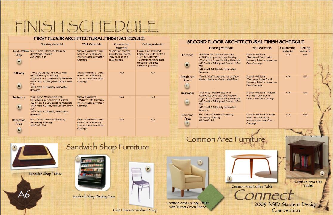 finish schedule digital portfolio. Black Bedroom Furniture Sets. Home Design Ideas